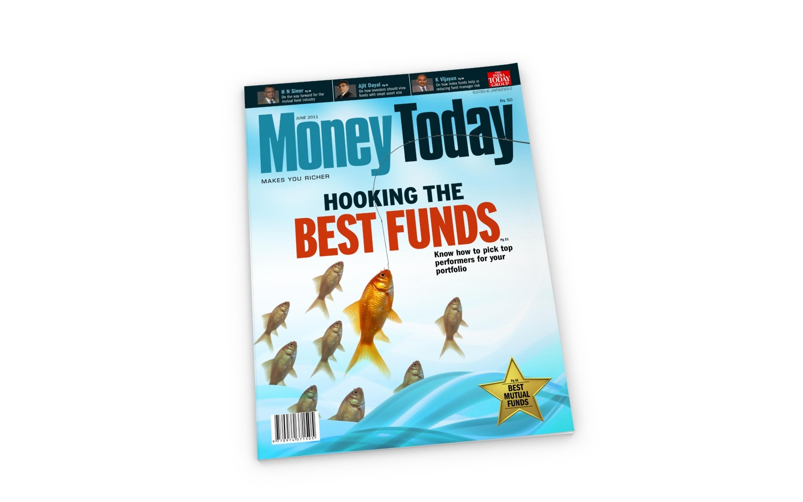 Magazine Cover page design for India Today Group's Money Today, a Personal Finance magazine