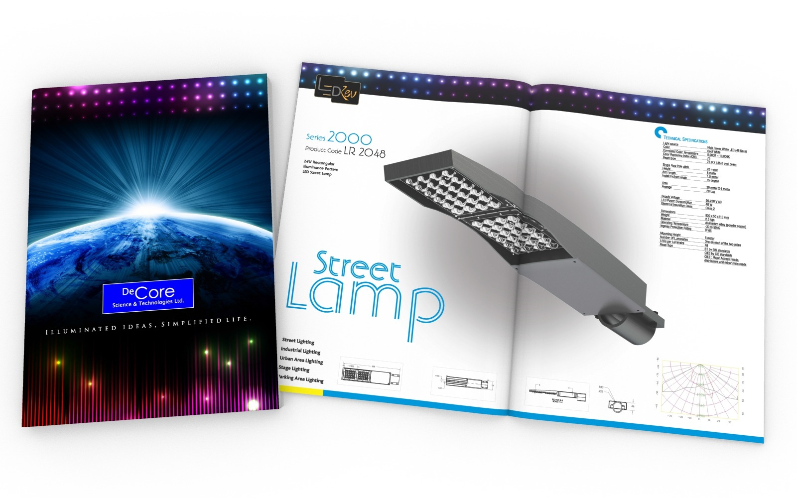 Brochure/ Catalog design for DeCore, Electricals and Lights