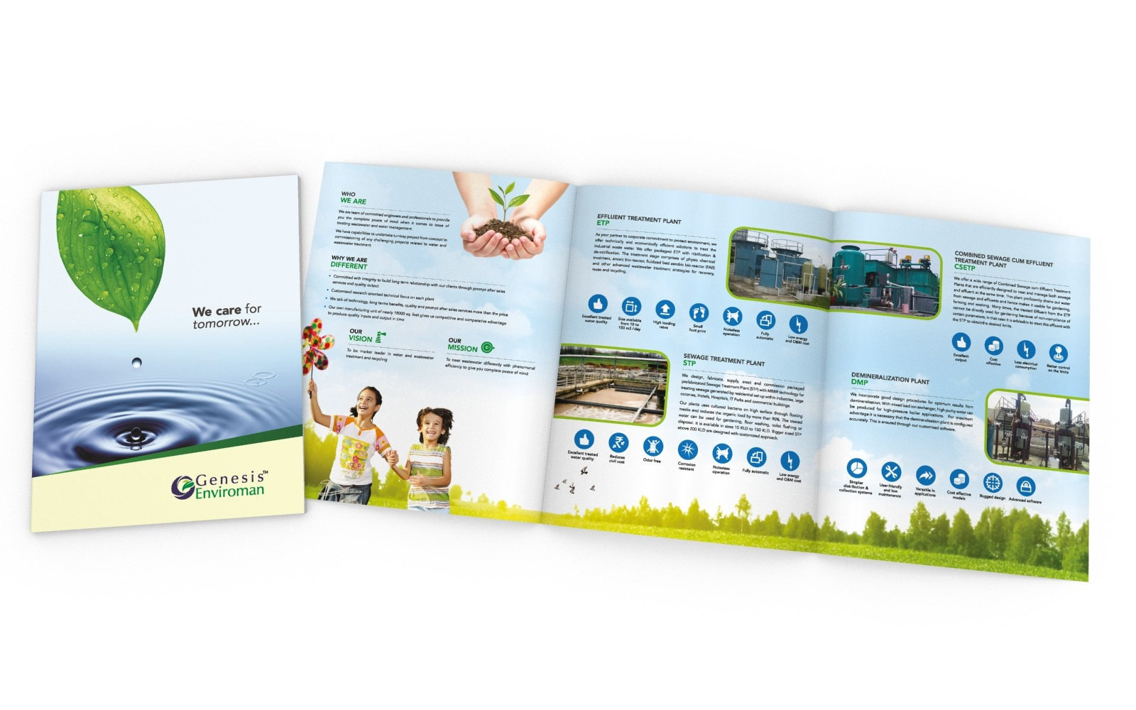 Brochure/ Catalog design for Industrial water treatment plant, Genesis