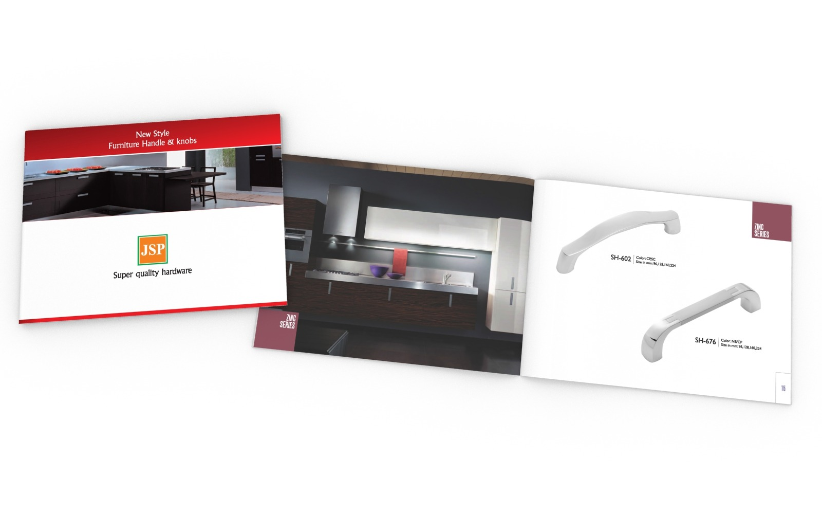 Brochure/ Catalog design for JSP furniture handles and knobs, a Hardware manufacturer