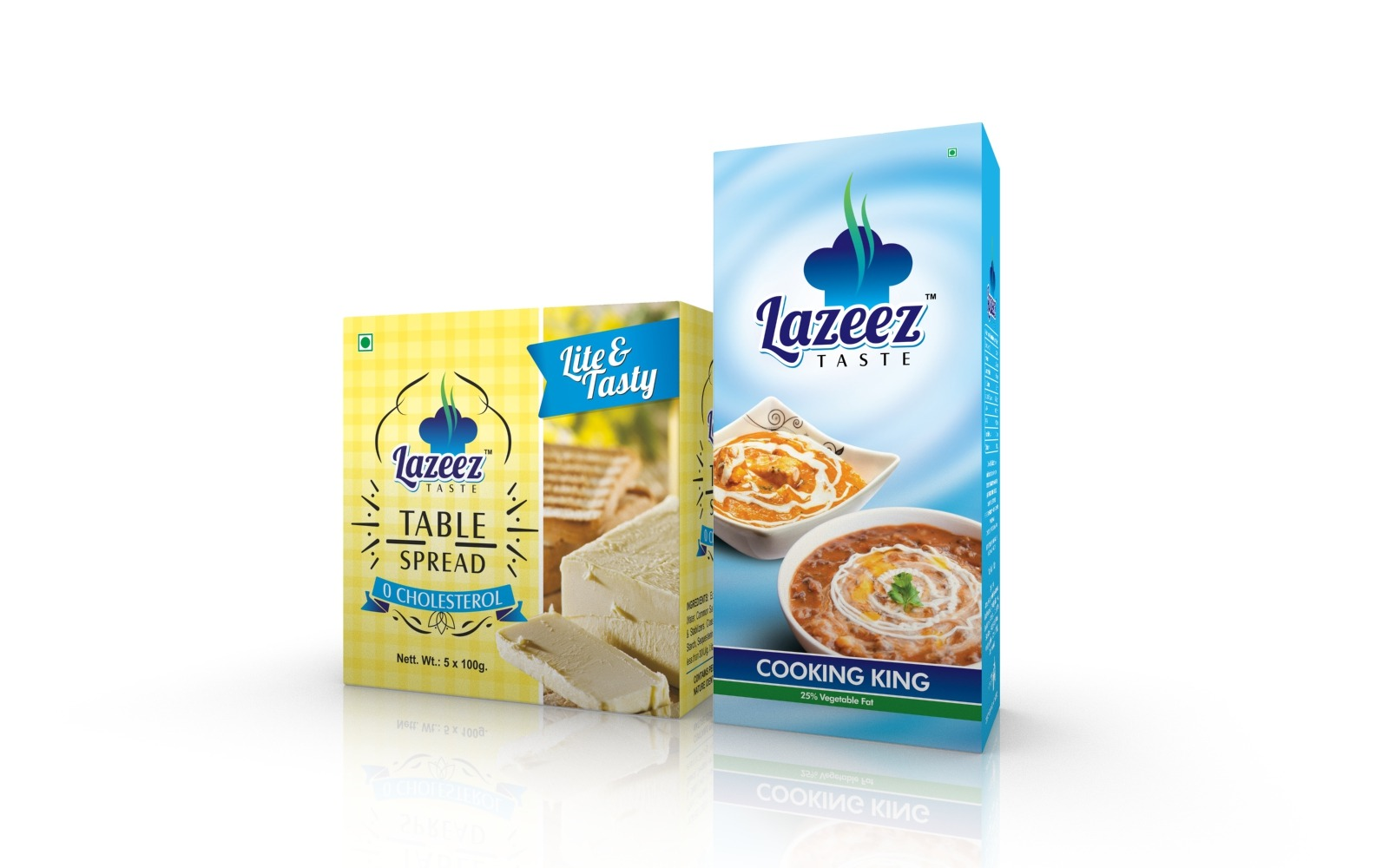Table spread & Dairy cream packaging box designs