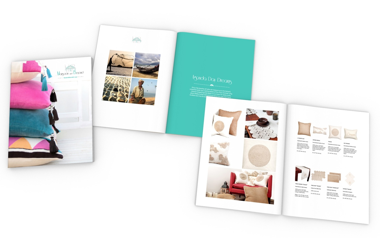 Brochure/ Catalog/ Company profile design for a Home Furnishing company, Monsoon & Beyond