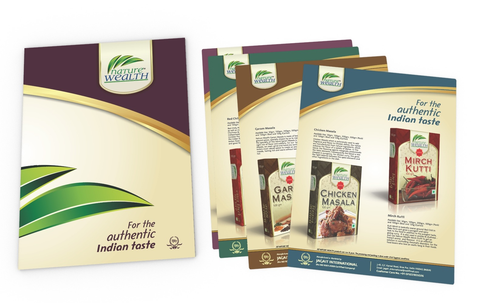 Brochure/ Catalog/ Company profile design for a FMCG/ Spices/ Food company, Nature Wealth