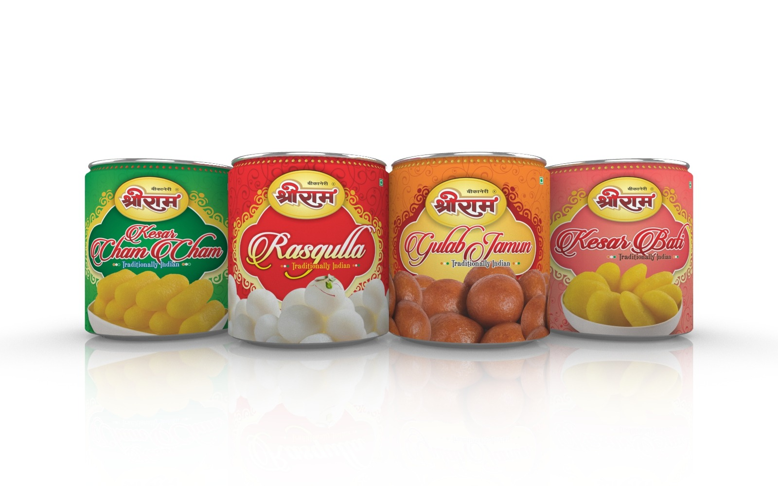 Sweets tin packaging design